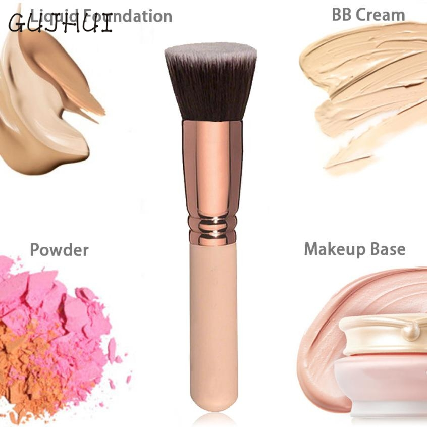 Beauty Girl Makeup Brush Cosmetic Brushes Kabuki Face Nose Powder Foundation Tool Oct 7 professional makeup brush flat top brush foundation powder beauty cosmetic make up brushes tool wooden kabuki