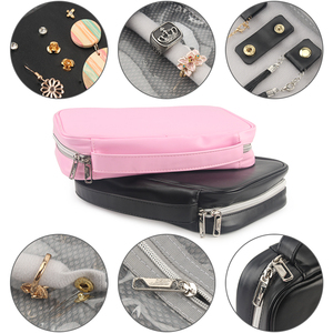 Image 4 - Travel Jewelry Organizer Bag Women Necklace Rings Earrings Bracelet Display Pouch High Capacity PU Traveling Jewelry Case