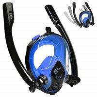 2019 New Double Breath Tube Swimming Mask Full Face Snorkel Mask Anti Fog Anti Leak Adults kids Diving Mask Diving Equipment