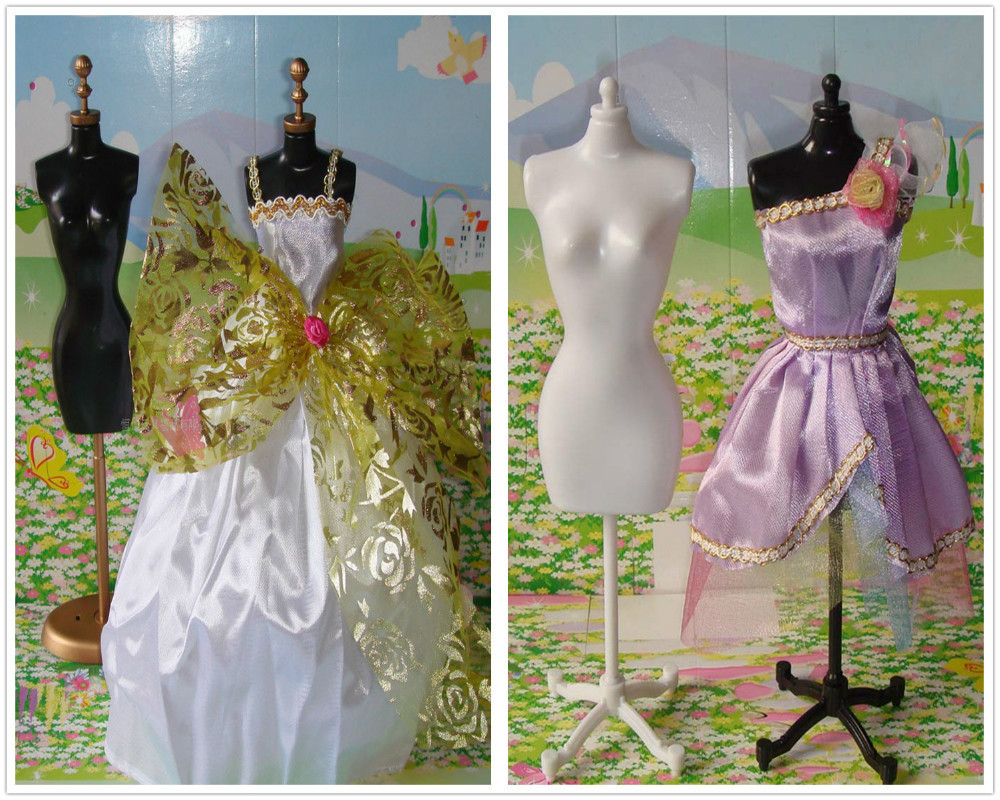 Free Shipping 5Pcs lot 1 6 Dolls Clothes Model Stand Dresses Show Standers For 11 30cm