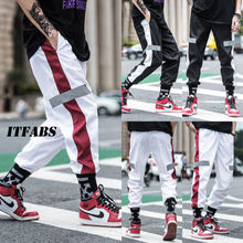Осенние уличные штаны для фитнеса, мужские спортивные штаны в стиле хип-хоп, повседневные бегуны, унисекс, Харадзюку, спортивные штаны