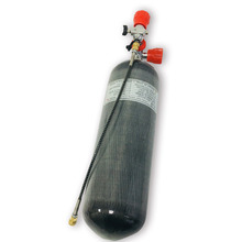 AC168101 6.8L CE 4500Psi Paintball Zylinder Ventil Pcp Verwendet Für PCP Mit Rot Gauge Ventil Scuba Tauchen Tank & Füllung station W