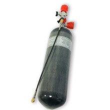 AC168101 6.8L CE 4500Psi Paintball silindir vana Pcp Için Kullanılan PCP Kırmızı Göstergesi Vana Tüplü Dalış Tankı ve Dolum Istasyonu  W