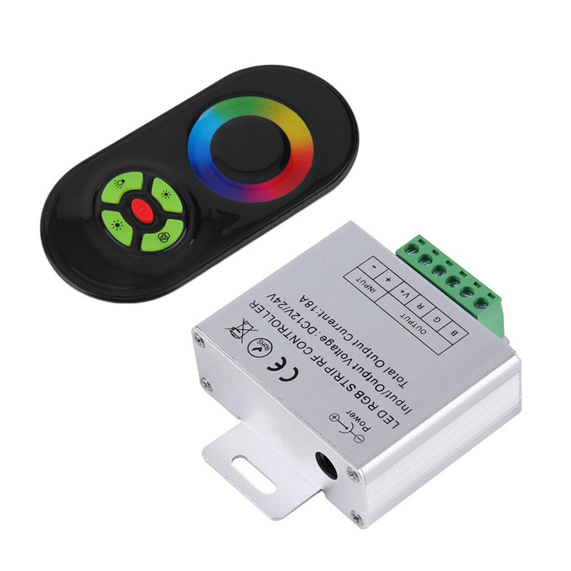 NEW Touch RGB controller DC12V 24V Wireless LED Controller RF Touch Panel LED Dimmer RGB Remote Controller Led controller wireless rgb led controller w touch round remote control white