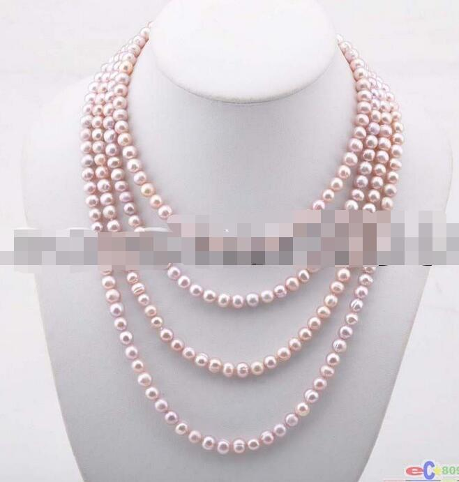 Hot selling free shipping******Long 80 8mm Round freshwater pearl necklace