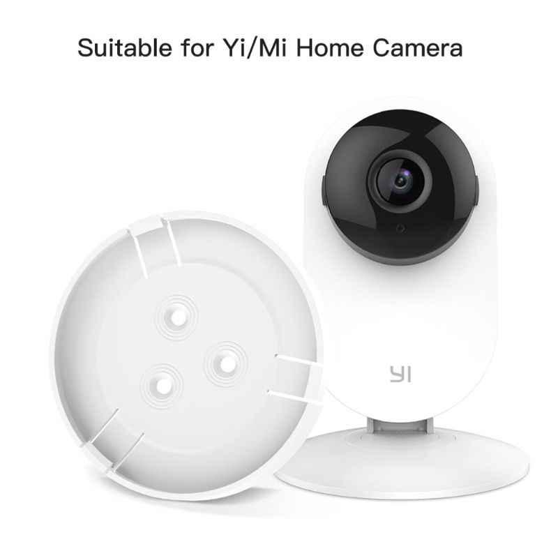 2 ensemble Yi Thuis caméra mi caméra de sécurité à domicile montage mural, 360 Graden Draaibare caméra Beugel Houder Custo mi zed voor mi/Yi Thuis