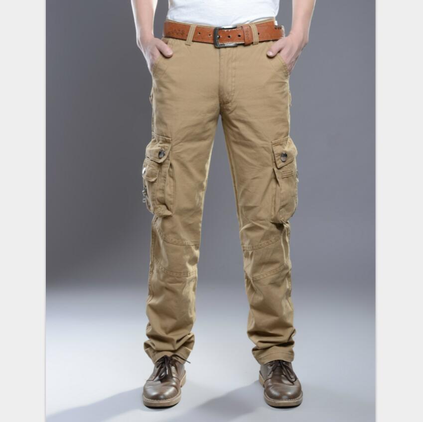 Men's Pants Fashion Cotton Mens Military Cargo Pants High Quality Breathable Summer Large Size Multi Pocket Long Trouser