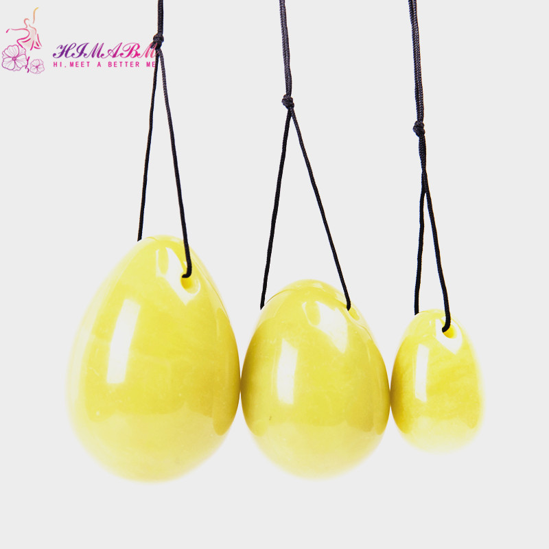 HIMABM 1 set Lemon Jade egg for kegel exercise pelvic floor muscles vaginal tightening exercise yoni egg ben wa ball