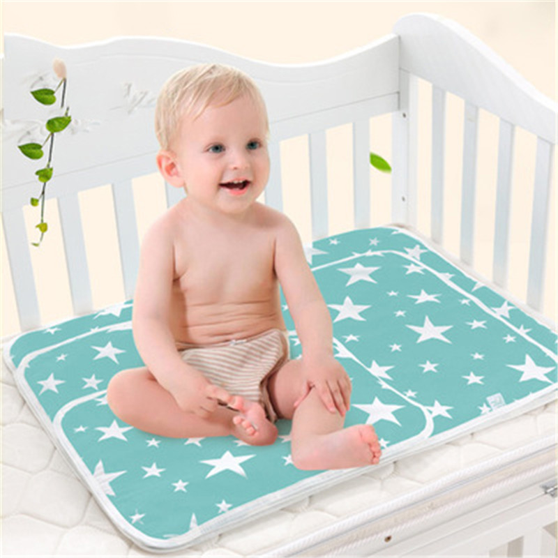 Baby Nappy Changing Pad Cover Baby Cotton Ecologic Diaper Changing Table Cartoon Waterproof Mattress Bed Sheet Infant Change Mat