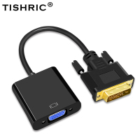 Tishric 10PCS Hot DVI D DVI D To VGA 24+1 15Pin Video Card Male To Female Cable Converter For Projector Monitor Adapter For PC