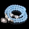 Pure Natural Aquamarine Crystal Bracelets For Women Multi Bracelet Tissu Female Lucky Friendship Statement Jewelry