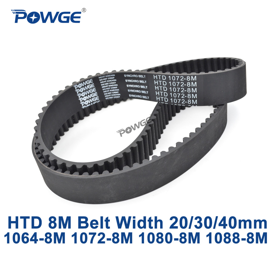 POWGE HTD 8M synchronous Timing belt C=1064/1072/1080/1088 width 20/30/40mm Teeth 133 134 135 136 HTD8M 1064-8M 1072-8M 1080-8M powge htd 8m synchronous belt c 520 528 536 544 552 width 20 30 40mm teeth 65 66 67 68 69 htd8m timing belt 520 8m 536 8m 552 8m