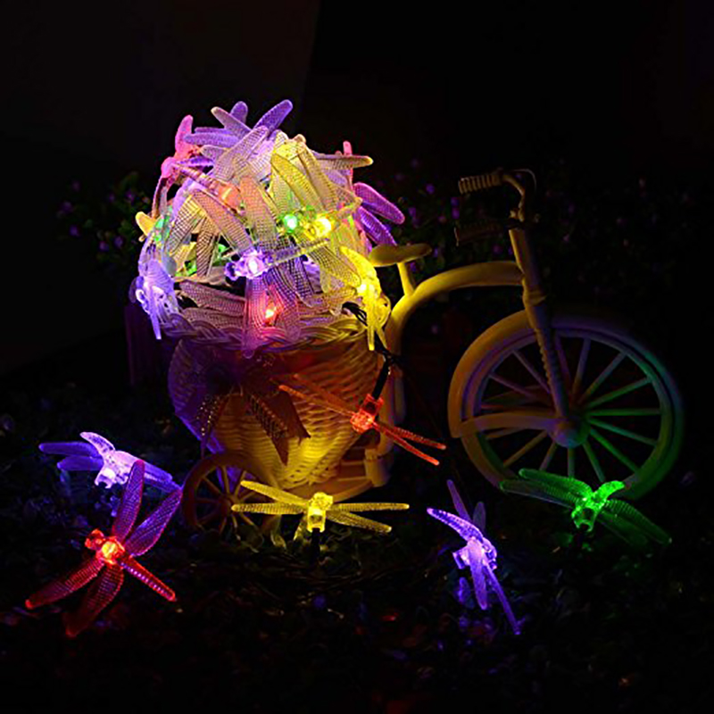 Dragonfly Solar String Φώτα 20 LED αδιάβροχο Fairy - Φωτισμός διακοπών - Φωτογραφία 2