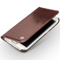 2015 New Real Genuine Leather Case For S6 Edge Luxury Elegant Flip Wallet Leather Cell Phone