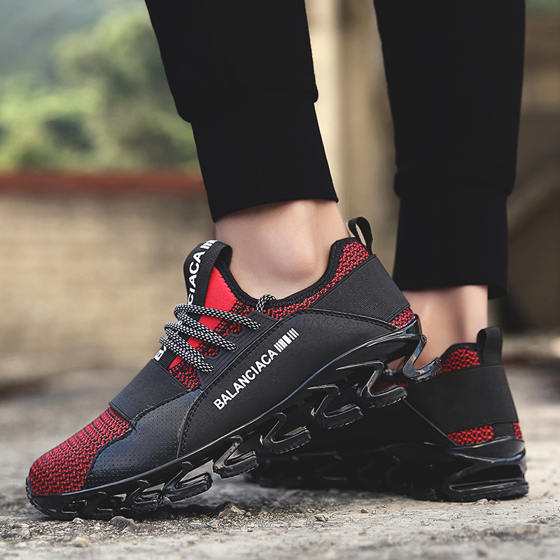 Running Shoes for Man Outdoor Breathable Mesh Male Flat Walking Sneakers Lace-up Men Fitness Sports Shoes Trainers Jogging