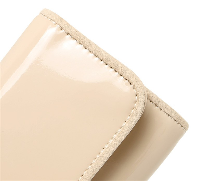 New Elegant Pure 3 Color Dinner Banquet Bag PU Leather High Quality Evening bag with chain HBF37 (16)