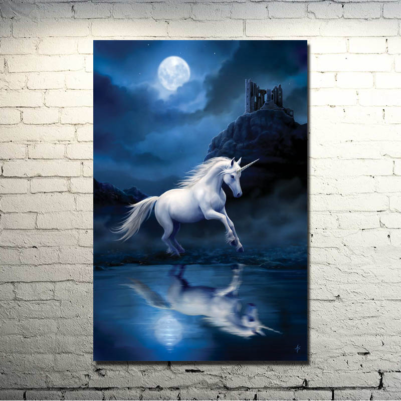 Horse Running Sunset Nature Animals Art Silk Poster Print 13x20 24x36 inch Nature Picture for Kids Home Decoration 019