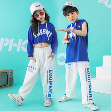 set dancing boys street dance clothing jazz hip hop costume kids girls hoodies white pants