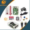 Raspberry Pi 3 Model B +/3 стартовый комплект + чехол + карта 32G + вентилятор + адаптер питания + кабель HDMI + радиатор для RPI 3/3b +