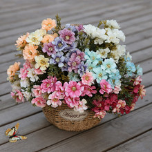Home Wedding Artificial Flower Bouquet Silk Daisy Rose Party Decoration Simulation Fake