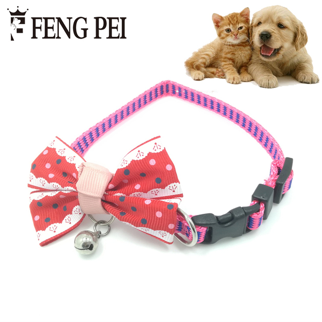 Top Dog Collar Bow Adorable Dog - Adjustable-Collars-Bow-Tie-nylon-Dogs-Puppy-Cat-Necktie-Necklace-Cute-Bowknot-Dog-Collars-With-Bells  Pic_184711  .jpg