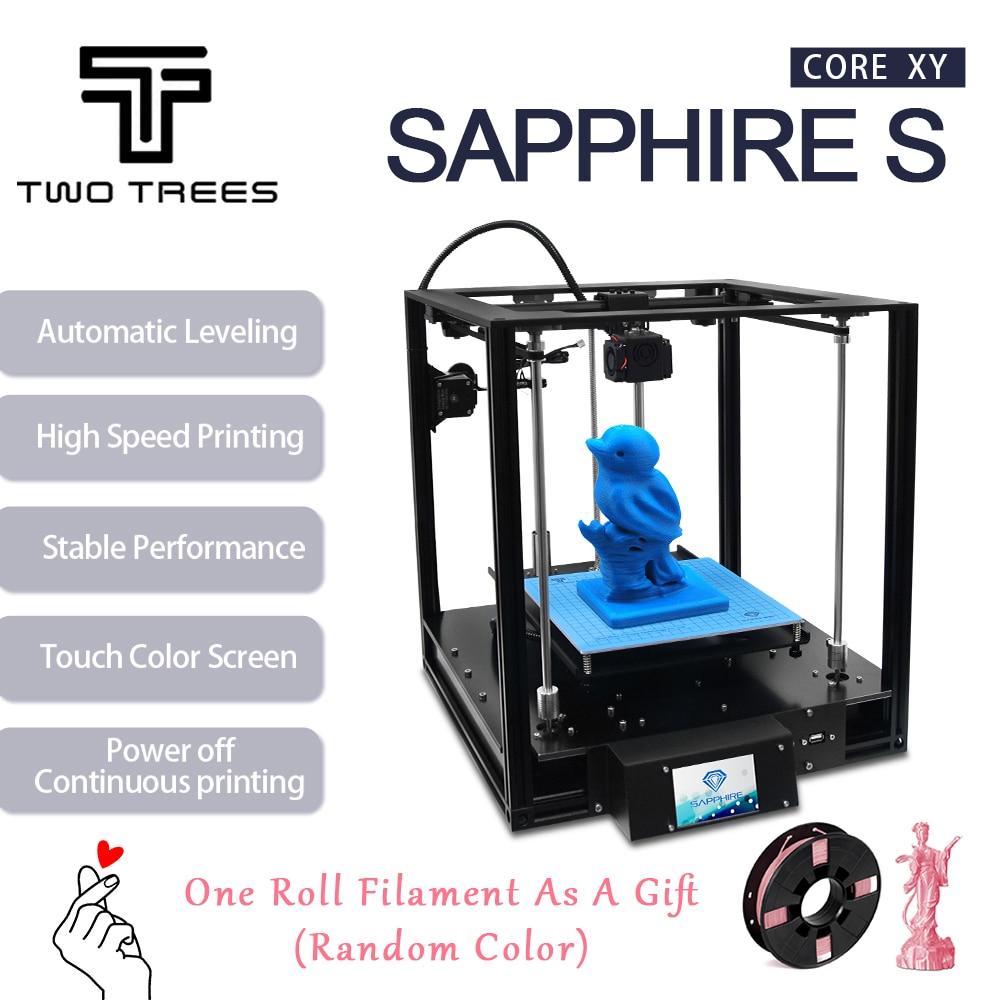 Impresora 3D de dos árboles, zafiro de alta precisión, nivelación automática, marco de perfil de aluminio, Kit de DIY estampado Core XY structureImpresoras 3D   -