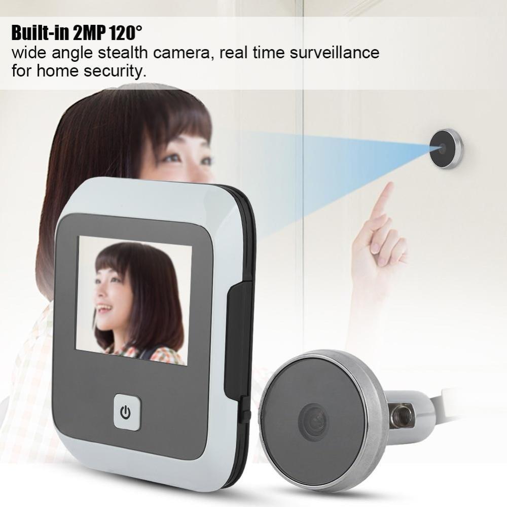 Видео звонок SF530S 3 дюймов высокой четкости ЖК-дисплей Экран 120 градусов 2MP дверной глазок Камера открытый Камера Anti-theft охранной