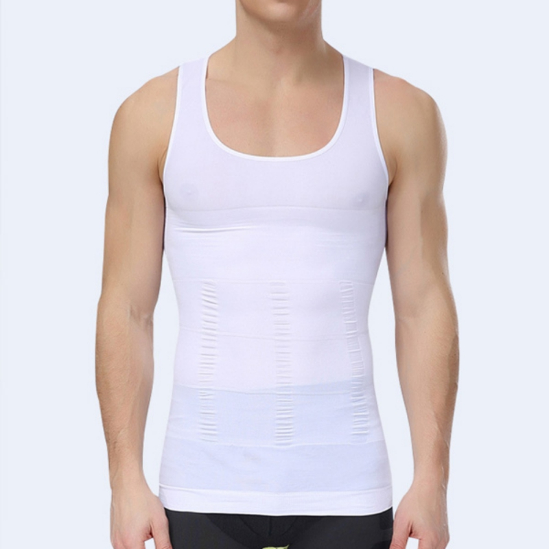 Men Slimming Body Shaper Belly Fatty Underwear Vest Shirt Corset Compression   Tank     Top   CV3 HU5