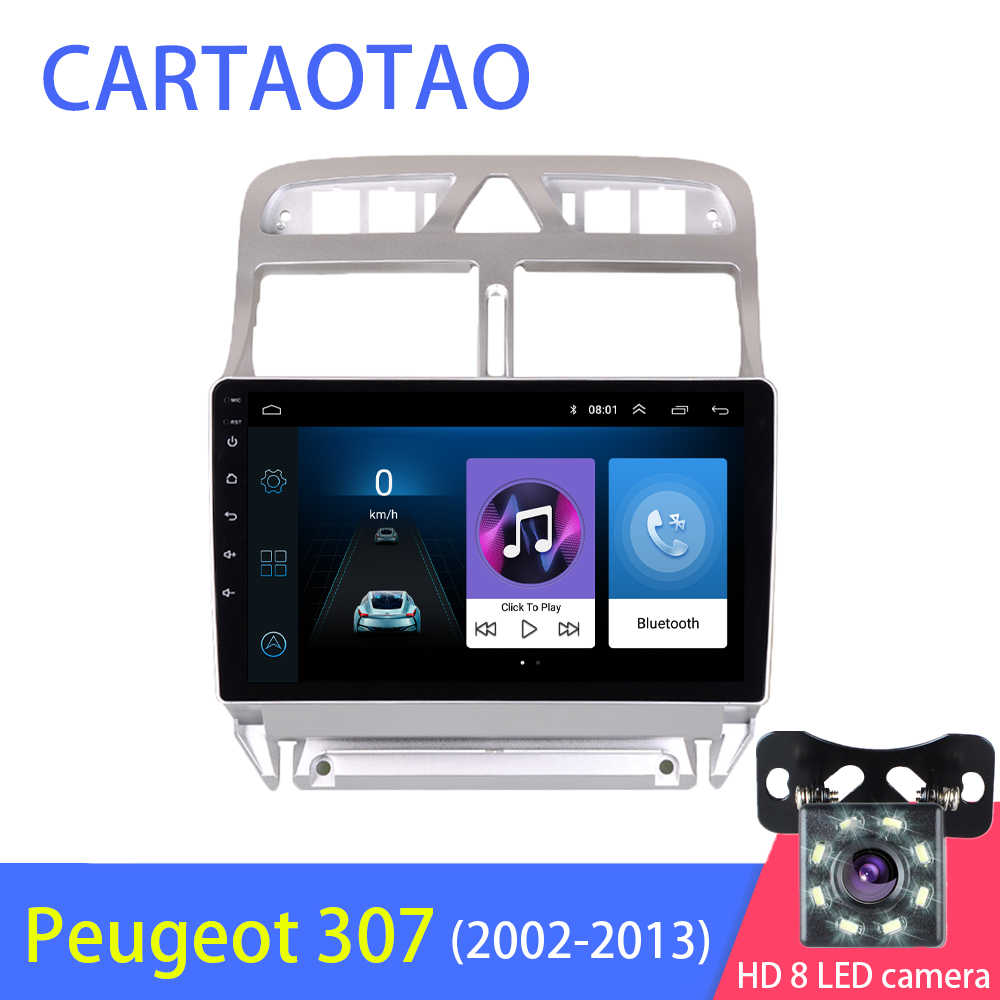2din Android 8.1 car DVD multimedia player Peugeot 307 307CC 307SW 2004-2013 car radio GPS navigation WiFi Bluetooth player
