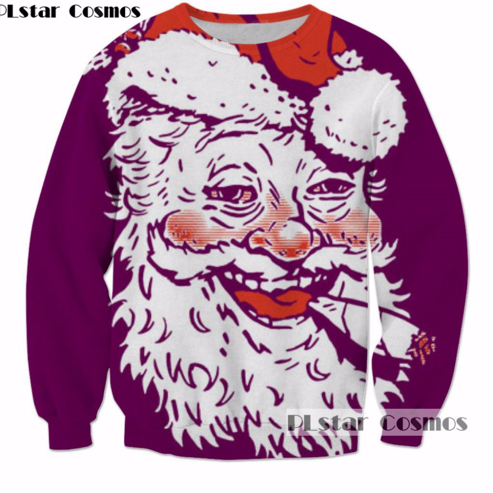 PLstar Cosmos Hot Sale Men/Women 3d Sweatshirt Christmas Festival Gift New Year Present harajuku Casual Pullovers Size S-5XL