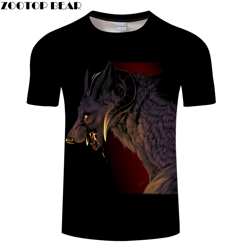 Snake 3D tshirts Wolf t shirt Men Women t-shirt Funny Tee Anime Top Streatwear Short Sleeve Tee Hot Hip Hop  DropShip ZOOTOPBEAR