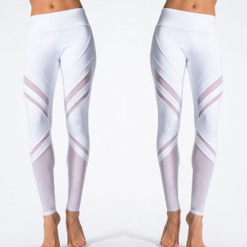 Women Sport Leggings Fitness Yoga Pants White Athletic
