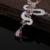 Nuevo Estilo de Forma de La Serpiente Multicolor Superior AAA Zirconia Cúbico Conjuntos Collar Pendientes de La Joyería Del Partido Para Las Mujeres