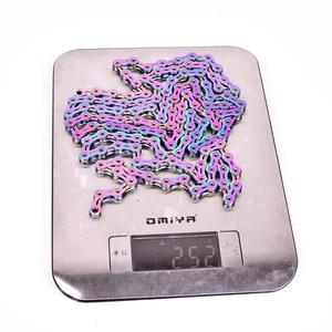 Image 4 - SUMC multi colored 9/10/11/12 prędkość łańcuch rowerowy Rainbow Hollow semi hollow magiczna klamra szosowe MTB kompatybilny 116/126L