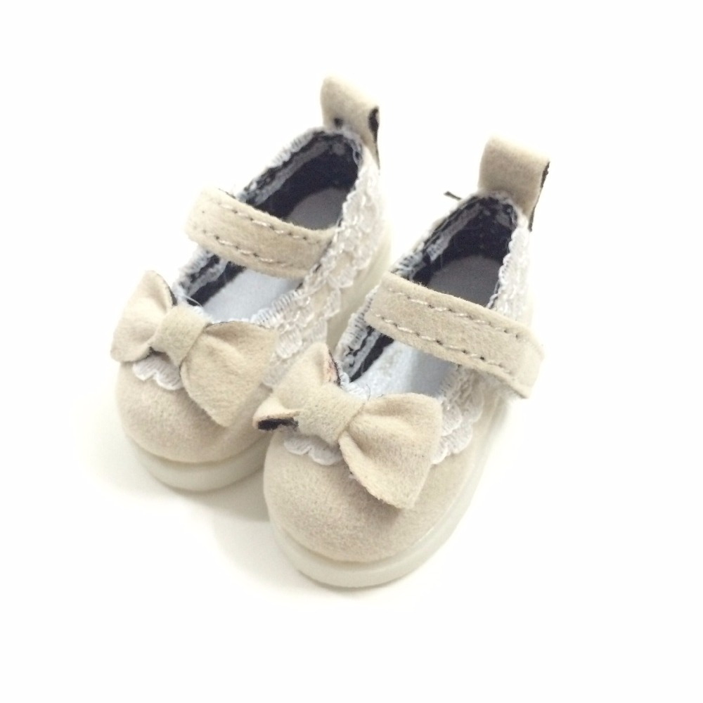 BEIOUFENG Butterfly Design Bow Tie Doll Shoes for Fabric Dolls,Textile Doll Boots 1/6 BJD Shoes 5CM Sneakers for Dolls One Pair 5cm pu leather doll princess shoes for bjd dolls lace canvas mini toy shoes1 6 bjd snickers for russian doll accessories