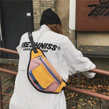 Унисекс Спортивная поясная сумка поясная Повседневная нагрудная сумка для женщин и мужчин Лоскутная портативная дорожная сумка через плечо bolsas feminina