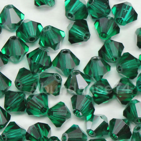 Free shipping! AAA 5301 Emerald color 3mm 4mm 5mm 6mm 8mm Crystal Glass Bicone Beads. emerald color 2mm 3mm 4mm 6mm 8mm 10mm 12mm 5040 aaa top quality loose crystal rondelle glass beads