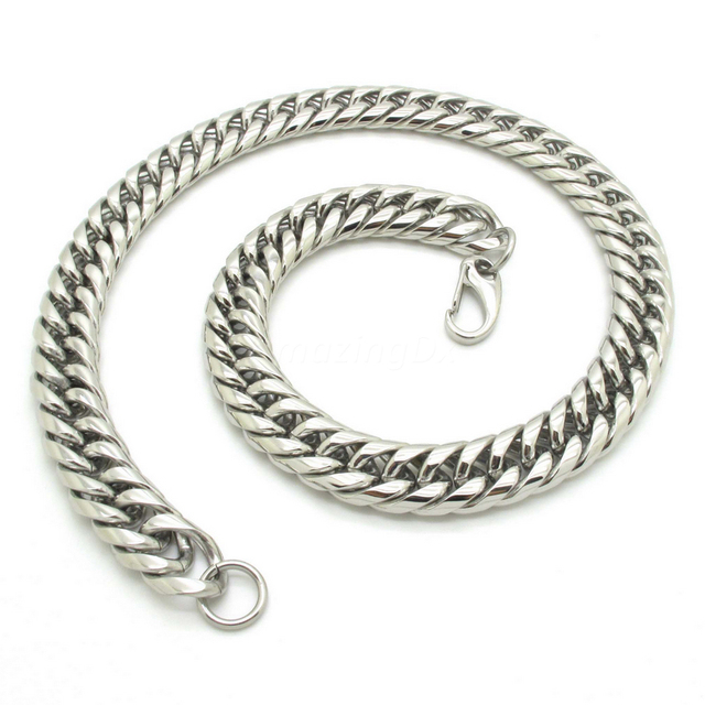 Jewelry For Male Jewelry, Popular 15mm Curb Links Chain Necklace, Heavy Huge 316L Stainless Steel Necklace Wholesale
