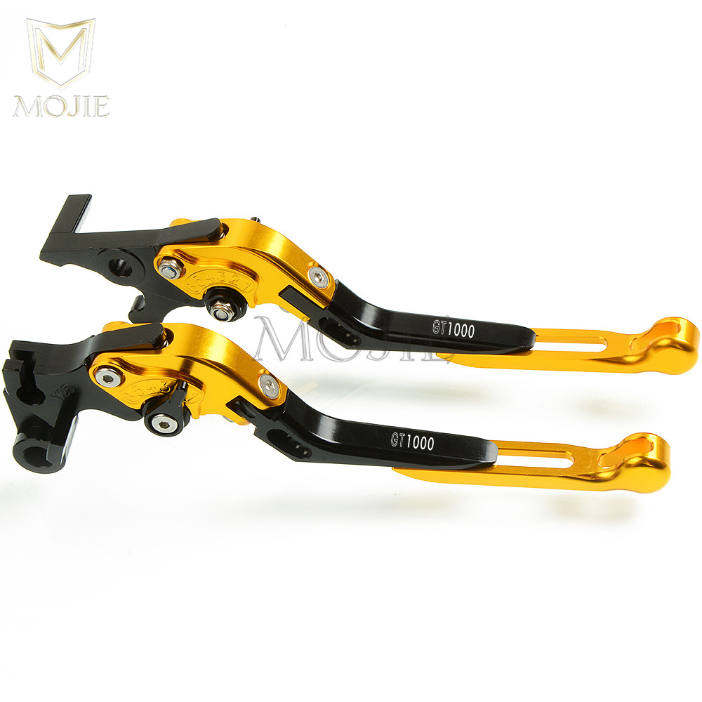 for ducati gt1000 gt 1000 2006 2010 2007 2008 2009 motorcycle cnc aluminum adjustable folding extendable brake clutch levers set in levers ropes cables  [ 1000 x 1000 Pixel ]