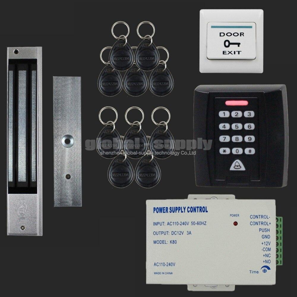 diysecur 125khz rfid reader password keypad access control system security kit 280kg magnetic. Black Bedroom Furniture Sets. Home Design Ideas