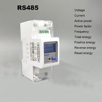 5(65)A 220V 230V 50HZ 60Hz voltage current DDS238 2 ZN/S single phase Din rail KWH Watt hour energy meter with RS485 MODBUS RUT