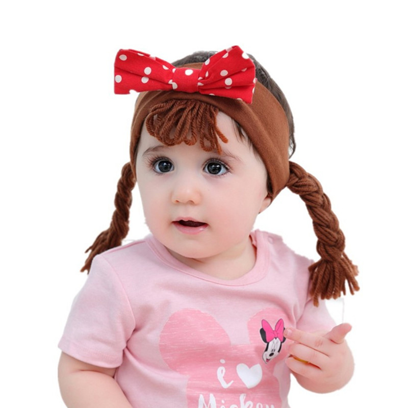 Baby & Toddler Clothing Hair Accessories Girls Newborn Baby Toddler Bow Headband Hair Band Accessories Headwear 5pcs