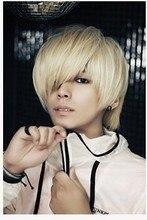 platinum blonde short cosplay wigs for men Korean handsome boy short straight wig New Fashion Short Platinum Blonde Man Wig