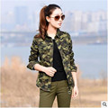 2017 Spring Summer Camouflage Shirts Women Fashion Cotton Pockets Casual Long Sleeve Blouse Maxi Long Shirt Women Army Clothes