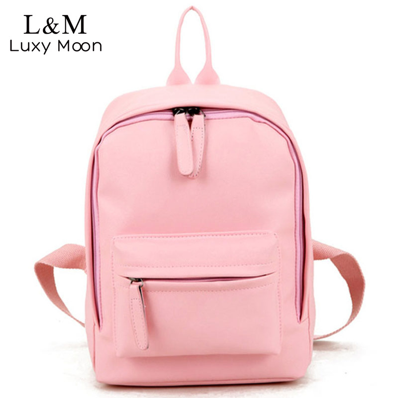 LUXY MOON New Travel Backpack Women Solid School Bags For Teenage Girls Black Leather Backpacks Preppy Style Bag mochila XA1054H тимиредис запад и восток