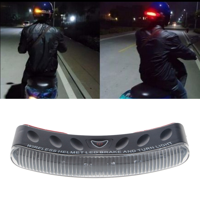 Universal 8 LED Motorcycle 2.4G Wireless Helmet Turn Signal Warning Racer Light New Drop shipping