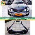 Z-ART One Set W211 to WALD Style Protection Body Kit For Benz E W211 2002-2010 car modification Auto styling DHL shipping