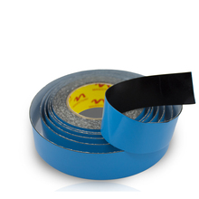 40mm*10m Strong Adhesive Black PE Foam Double Sided Tape Blue Protective Film For Car Styling Phone Repair Gasket Screen PCB 2mm 10mm 10m 0 5mm thickness black super strong self adhesive foam car trim body double sided tape mobile phone dust proof tape