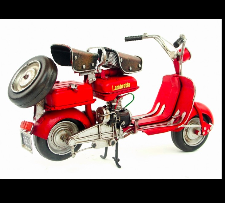 1438359ad7b lambretta Car 1954 taly vintage metal toy vespa red motorcycle toys hot  wheel 1 12 safe