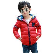 2016Boys Parka Childen Winter Jackets For Boys Down Jackets Coats Warm Kids Baby Casual Cotton Down Jacket For Cold Winter YRF48